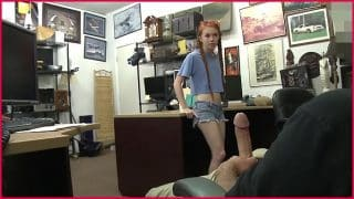 XXX PAWN – Redhead Teen Dolly Little Tries To Pawn Her Kayak, Ends Up Selling Ass Instead