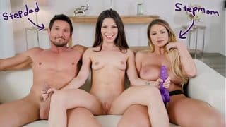 FILTHY FAMILY – Gianna Gem Learns To Fuck With Her Step Parents Brooklyn Chase & Tommy Gunn