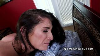 Milf cheater takes it in the ass for the first time